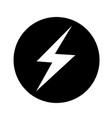 lightning icon design vector image