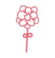 line icon flower cartoon vector image