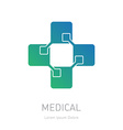 medical logotype design element or icon vector image