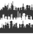 oil and gas refinery power plant silhouette vector image vector image