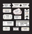 old cinema tickets for cinema eps10 vector image vector image