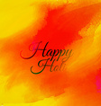 orange ink background of holi festival vector image vector image