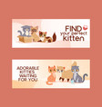 pets adopt find friendship poster vector image vector image
