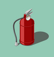 red fire extinguisher isometric vector image