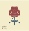 retro barber chair icon with scuffed effect in a vector image vector image