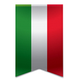 Ribbon banner - hungarian flag vector image