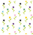 seamless pattern of flowers in abstract style vector image vector image
