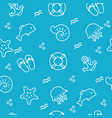 seamless sea pattern hand drawing vector image vector image