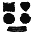 set black ink stains vector image