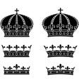 set crowns stencils vector image
