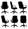 set of different office chairs vector image vector image