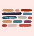 set - watercolor brush strokes in grunge style vector image