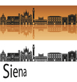 Siena skyline in orange vector image vector image