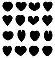 silhouettes of heart vector image