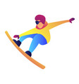 snowboarder jumping vector image