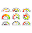speedometer and odometer scales and pointer vector image
