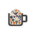 Sports a cup vector image