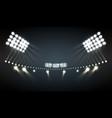 stadium lights background vector image vector image