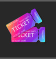 two tickets 3d isolated mockup night club dj vector image