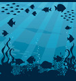 underwater cartoon landscape vector image vector image