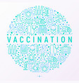 vaccination concept in circle vector image