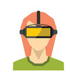 virtual reality glasses in flat style vector image vector image