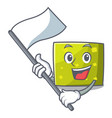 with flag square mascot cartoon style vector image