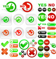 yes and no icon set vector image vector image