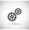 Simple gear wheels icon for your web vector image