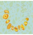 image of the beads of stones vector image