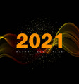 2021 new year abstract gold glitters and gold wave vector image vector image