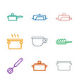 9 kitchenware icons vector image vector image