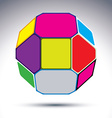 Abstract 3d ball with jewels effect vector image