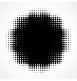 Abstract Halftone Black and White Isolated Modern vector image vector image