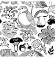 black and white endless wallpaper for coloring vector image vector image