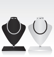 Black and white mannequin jewelry stand vector image vector image