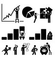 business finance chart employee worker vector image