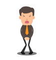 businessman has to pee very urgently business vector image