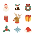 Christmas icons symbols set vector image vector image