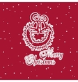 Christmas Sticker Bells vector image vector image