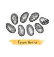 cocoa ink sketch vector image