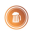 coin with beer jar icon vector image