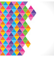 Colorful triangle background vector image vector image