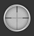 crosshair shot icon realistic style vector image vector image