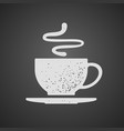 cup of tea or coffee drawn on chalkboard vector image vector image