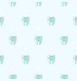 cute teeth baby dental blue pattern background vector image vector image