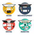 design web development writing and marketing vector image