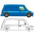 doodle art for minivan vector image