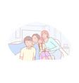 family parenthood childhood selfie concept vector image vector image