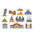 famous world amazing architectural landmarks vector image